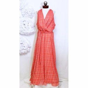 CHETTA B maxi dress metallic surplice plus 20W